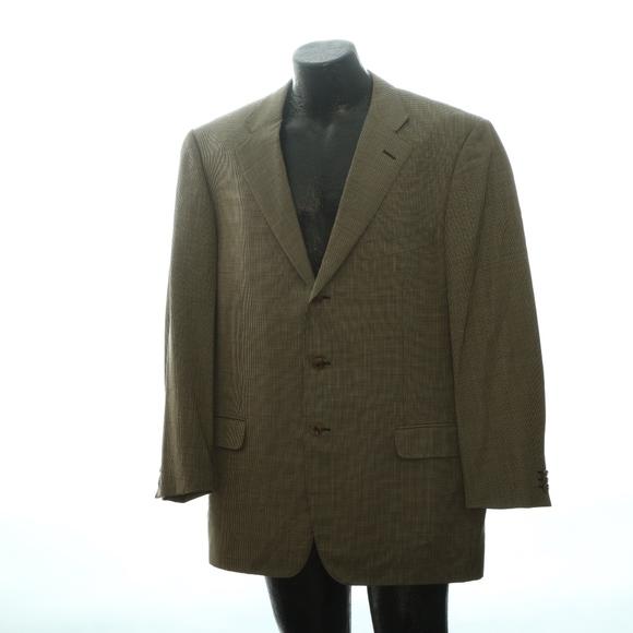 74eefeac Ermenegildo Zegna Mens 3 Button Suit Jacket 40L Na